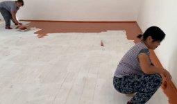 Жамбыл облысында мұғалімдер мектептің жөндеу жұмыстарымен айналысқан